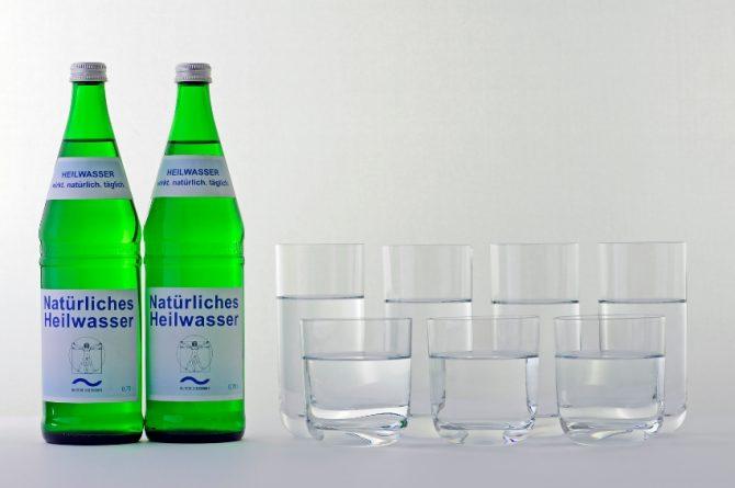 Heilwasser Tagesration zwei Flaschen
