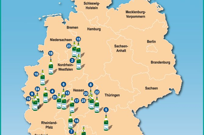 Heilwassermarken in Deutschland (ohne Legende)