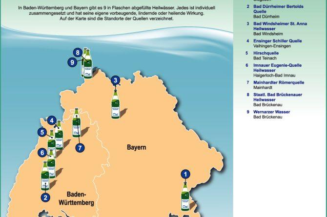 Heilwassermarken in Bayern und Baden-Württemberg