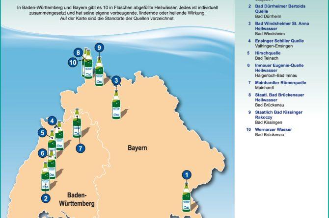 Heilwassermarken in Baden-Württemberg und Bayern