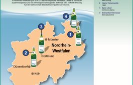 Landkarte: Heilwasser in Nordrhein-Westfalen