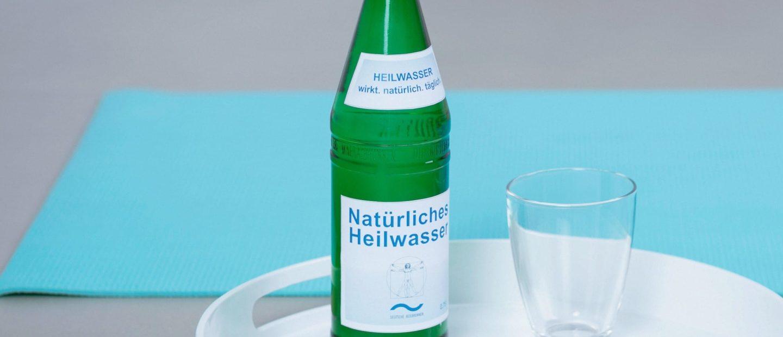 Heilwasser-Etikett
